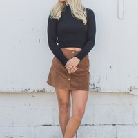 Take A Hint Cropped Sweater - Black