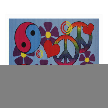 Fun Rugs Fun Time Collection Home Kids Room Decorative Floor Area Rug Lovely Peace -39X58