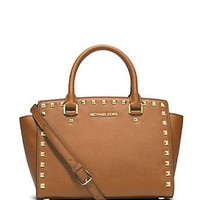 Michael Michael Kors Studded Medium Selma Satchel