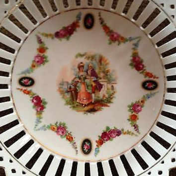 Antique German  Porcelain Beautiful  Bowl &  Dish Marked Germany