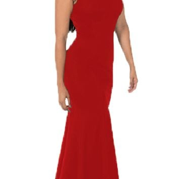 Red Off-the-Shoulder Mermaid Long Prom Dress