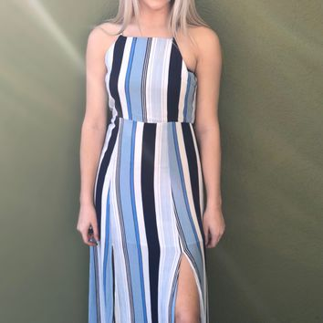 Spring Break Maxi- Navy Multi