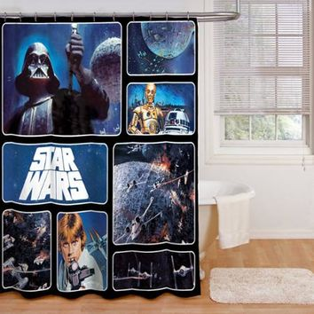 Star Wars Fabric Shower Curtain - Walmart.com