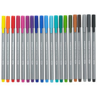 Triplus fineliner wallet - set of 20 at Paperchase