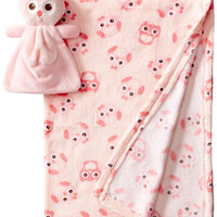 2-Piece Fleece Blanket & Plush Set Owl – Vitamins Baby