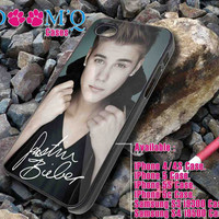 justin bieber with signature iPhone case, iPhone 4/4S, 5, 5S, 5C Case, Samsung S3, S4 Case By Doomqcases for Accessories beautiful