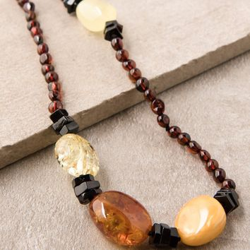 Amber Wrap Necklace - 44 inch