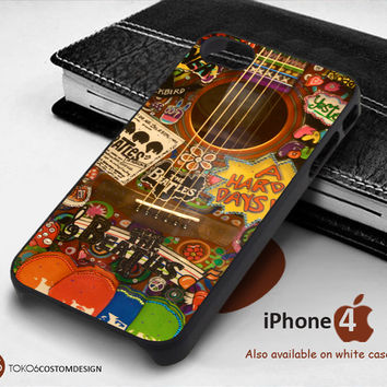 Hippie Guitar The Beatles Case for iPhone 4/4S, iPhone 5/5S, iPhone 6, iPod 4, iPod 5, Samsung Galaxy Note 3, Galaxy Note 4, Galaxy S3, Galaxy S4, Galaxy S5, Galaxy S6, Phone Case