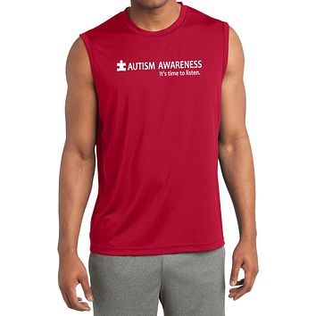 Buy Cool Shirts Autism Awareness Time to Listen Dry Wicking Sleeveless Shirt