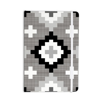 "Pellerina Design ""Linen Moroccan"" Grey Geometric Everything Notebook"