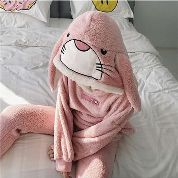Pink Animal Appliques 2-in-1 Casual Long Jumpsuit
