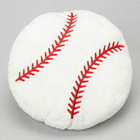 White & Red Baseball Pillow | zulily