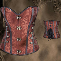 Steampunk Corset - Bustier With Side Chain Victorian Inspired