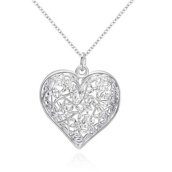 Free Shipping  New Sale  silver necklaces & pendants Sand Flower big necklace prices in euros cp218