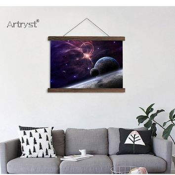 Planet Stars HD Poster  Painting For Wall Decor