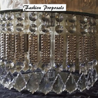 SALE Wedding Cake Stand with Crystals/ Chandelier Acrylic beads and Stunning Rhinestone Cupcake Stand. Dessert stand.