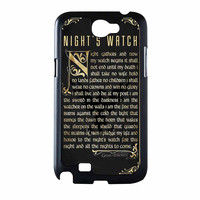 Game Of Thrones Nights Watch Samsung Galaxy Note 2 Case
