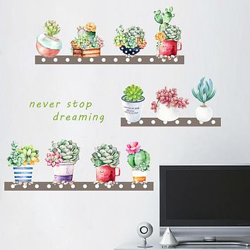 Decorative Wall Stickers - Plane Wall Stickers Floral / Botanical Living Room Bedroom Bathroom Kitchen Dining Room Study Room / Office