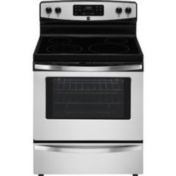 94173 5.3 cu. ft. Electric Freestanding Range w/ Self-Clean - Stainless Steel - Sears