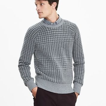 Banana Republic Mens Patterned Sweater Pullover