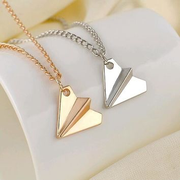Collares Overwatch Choker New Men Jewelry Necklace Chain Fashion One Direction Band Harry Styles Paper Airplane Pendant