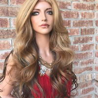 "Mary Ombre' Dark blonde 26"" Lace Front Wig"