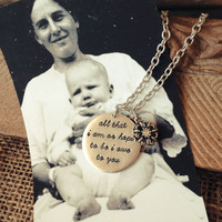All That I Am Or Hope To Be I Owe To You: Mother of Bride Jewelry Wedding Necklace Unique Wedding Gift Mother of the Bride