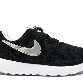 "Nike Roshe One Toddler ""Black Metallic Silver"" (TD)"