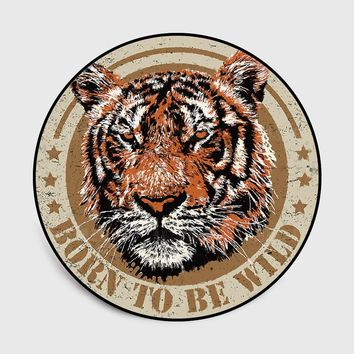 Autumn Fall welcome door mat doormat Fashion Wild Animal Large Tiger Head Chair Pad Baby Crawl Foot  Parlor Living Room Bedroom Decorative Carpet Area Rug AT_76_7