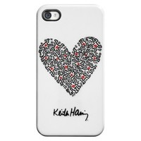 Keith Haring Heart Cell Phone Case for iPhone®4 - White (8109906)
