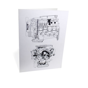 Mercedes-Benz Engine Greeting Card