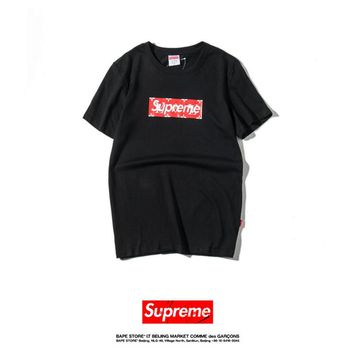 Cheap Women's and men's supreme t shirt for sale 85902898_0106