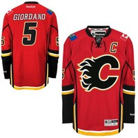 Men's Calgary Flames Mark Giordano Reebok Red Home Premier Jersey