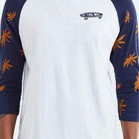 Vans Palm Leaf Raglan Tee- Navy