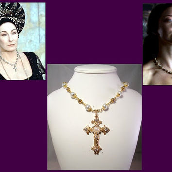 Renaissance Necklace, Medieval Necklace, Tudor Necklace, Renaissance Jewelry, Reproduction Necklace, EverAfter & The Tudors Necklace Replica