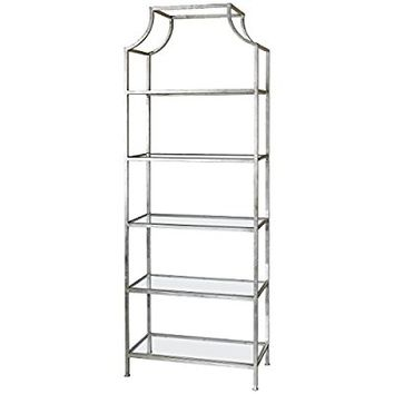 Uttermost 24514 Aurelie Silver Etagere Shelf Unit