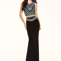 Two Piece Paparazzi Prom Dress 98031