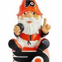 Philadelphia Flyers Gnome Sitting on a Logo