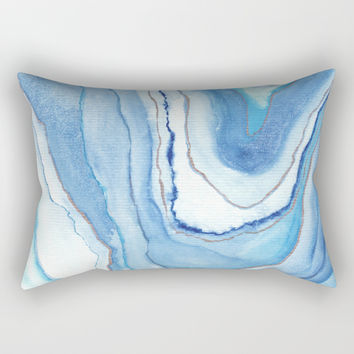 Agate Watercolor 12 Rectangular Pillow by vivigonzalezart