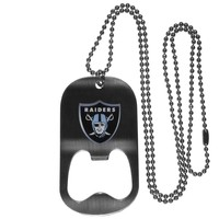 NFL - Oakland Raiders Bottle Opener Tag Necklace