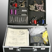 6 Gun Tattoo Machine Kit Tattoo Gun Kit - Comes package in high quality carrying case with keys