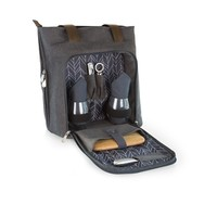 SheilaShrubs.com: Sonoma Wine and Cheese Tote - Gray 616-60-105-000-0 by Picnic Time: Wine Baskets & Totes