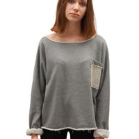 Soft Sweater - Grey / Light Grey