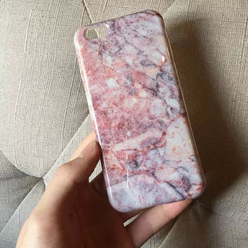 Unique Pink Marble iPhone 6 6s Plus creative case Gift-132