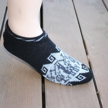 Alpaca Slippers with Padded Sole
