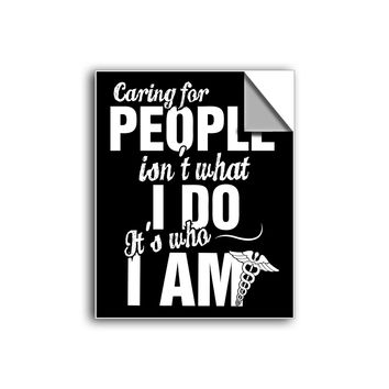 "FREE SHIPPING - ""Caring For People - Medical Professionals"" Vinyl Decal Sticker (5"" tall) - Limited Time Only!"