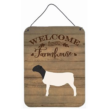 Dorper Sheep Welcome Wall or Door Hanging Prints CK6922DS1216
