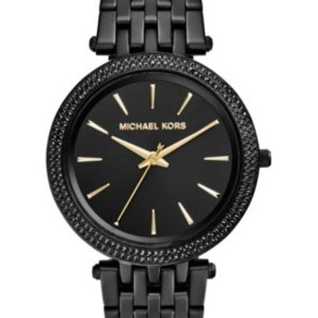 Michael Kors Women's Darci Black Ion-Plated Stainless Steel Bracelet Watch 39mm MK3337 - A Macy's Exclusive | macys.com