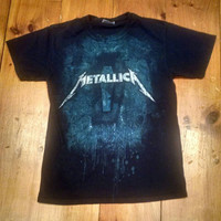 Vintage Metallica Death Magnetic T-Shirt, Mens Cotton Faded Black Sized Small Tee