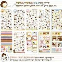 1 X ONOR-Tech 20 Sheets MOMOI Diary Decoration Sticker Scrapbooking Craft Sticker in Tin Case